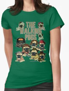 The Walking Pugs Womens Fitted T-Shirt