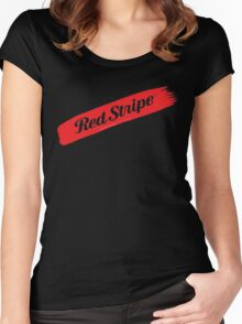 Red Stripe Jamaican  Women's Fitted Scoop T-Shirt