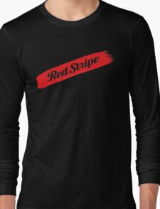 Red Stripe Jamaican  Long Sleeve T-Shirt