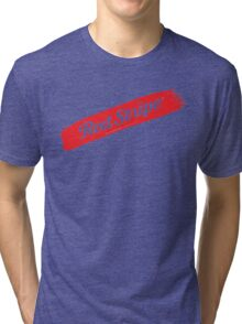 Red Stripe Jamaican  Tri-blend T-Shirt