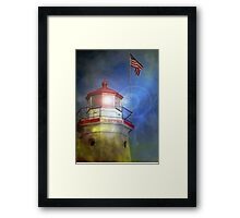 Cheboygan Crib Lighthouse - Lake Huron Michigan - Photograph Framed Print