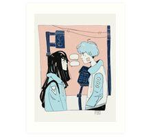 constant conversations Art Print