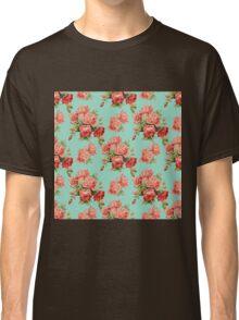 Vintage Rose Flower Pattern Classic T-Shirt