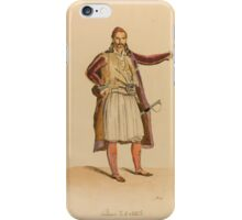 HENRI, COMTE DE CHAMBORD. ALBUM OF WATERCOLOURS OF GREEK AND TURKISH PORTRAITS AND COSTUME AFTER LOUIS DUPRÉ. iPhone Case/Skin