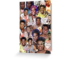 Leslie Jones collage Greeting Card