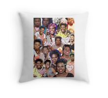 Leslie Jones collage Throw Pillow