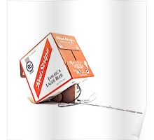 Red Stripe Trapped Box Poster