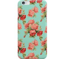 Vintage Rose Flower Pattern iPhone Case/Skin