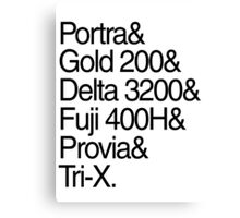 Helvetica Film Stock Canvas Print