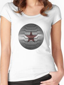 Winter Soldier Star Women's Fitted Scoop T-Shirt