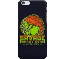 Savage Beast Gym iPhone Case/Skin