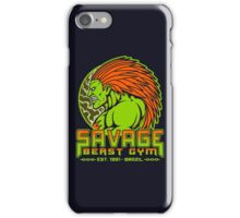 Savage Beast Gym iPhone Case/Skin