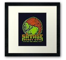 Savage Beast Gym Framed Print