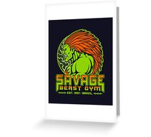 Savage Beast Gym Greeting Card