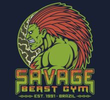 Savage Beast Gym One Piece - Short Sleeve