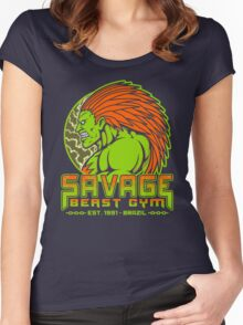 Savage Beast Gym Women's Fitted Scoop T-Shirt