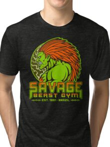 Savage Beast Gym Tri-blend T-Shirt