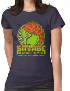 Savage Beast Gym Womens Fitted T-Shirt