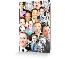 Seth Meyers collage Greeting Card