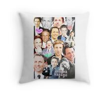Seth Meyers collage Throw Pillow