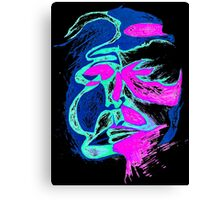 Neon-man Canvas Print