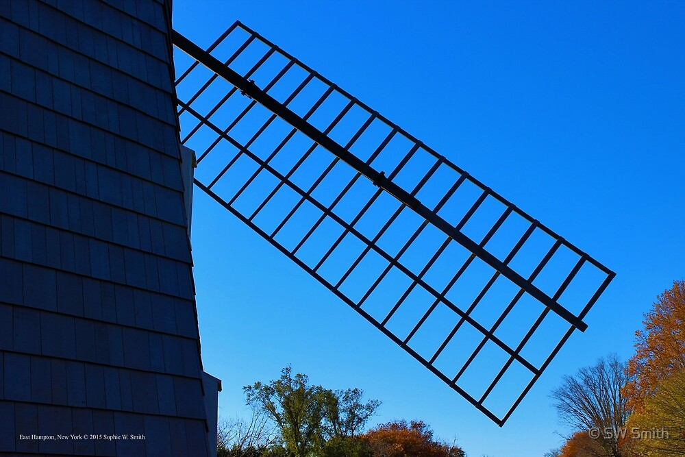 Hook Windmill's Sail Detail | East Hampton, New York  by © Sophie W. Smith