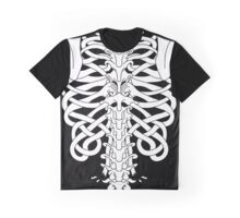 Shoulders and Spine Celtic Design White Graphic T-Shirt