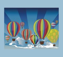Air Balloons in the Sky 2 Kids Tee