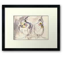 Small Cockys Framed Print
