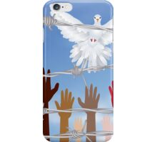 Hands Behind a Barbed Wire 5 iPhone Case/Skin