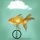 unicycle goldfish III by Vin  Zzep