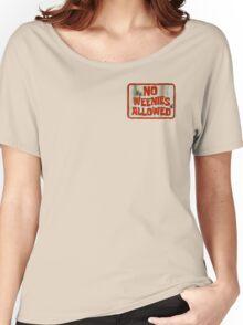 Spongebob No Weenies Allowed  Women's Relaxed Fit T-Shirt