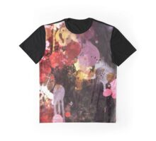 Allure Abstract Painting in Red, Purple, Gold and Black Graphic T-Shirt