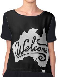 Welcome Australia - White Chiffon Top
