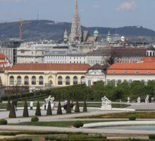 View from Upper Belvedere, Vienna Austria Sticker