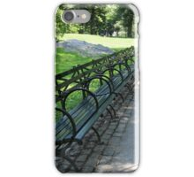 Central Park Benches iPhone Case/Skin