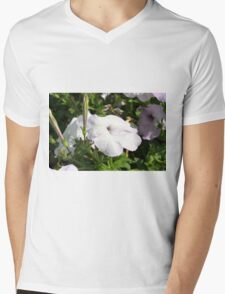 Beautiful light purple flowers in the garden. Mens V-Neck T-Shirt