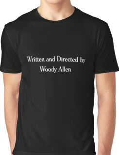 Written & Directed by Woody Allen Movie Credits in Font Graphic T-Shirt