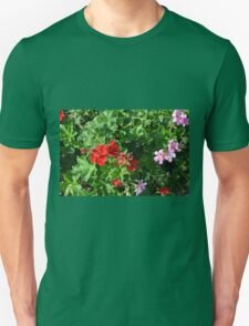 Colorful flowers in the garden. T-Shirt
