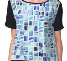 A Study In Blue Lines... Chiffon Top