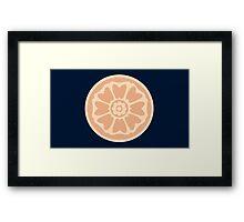order of the white lotus symbol Framed Print