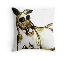 Cool Kangaroo (Colour) Throw Pillow