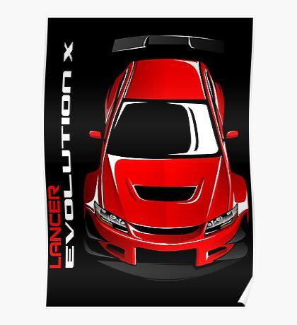 Lancer Evolution X Poster