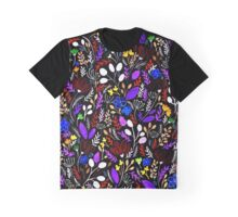 Night Garden Pattern Graphic T-Shirt