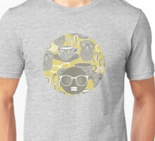 Tea owl yellow. Unisex T-Shirt