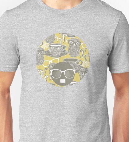 Tea owl yellow. Unisex T-Shirt
