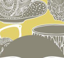 Tea owl yellow. Sticker