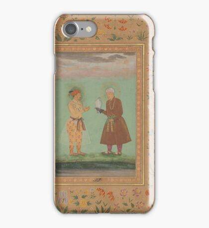 Jahangir and his Father, Akbar, Folio from the Shah Jahan Album iPhone Case/Skin