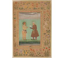 Jahangir and his Father, Akbar, Folio from the Shah Jahan Album Photographic Print