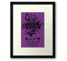 A TERRIBLE FATE Framed Print